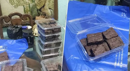 A lot of brownies recovered from the house
