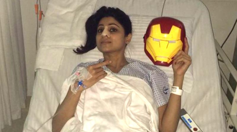 A picture of Shamita Shetty, exhibiting her fractured nose