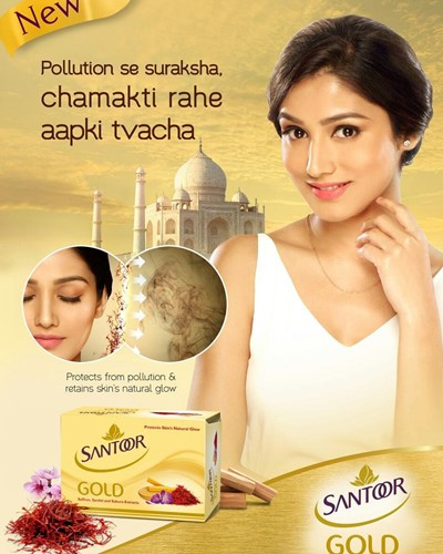 Donal Bisht in the ad of Santoor soap