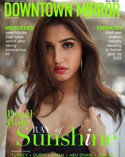 Donal Bisht on the cover page of Downtown Mirror magazine