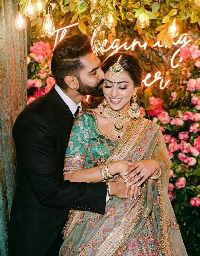 Geet Grewal and Parmish Verma's engagement picture