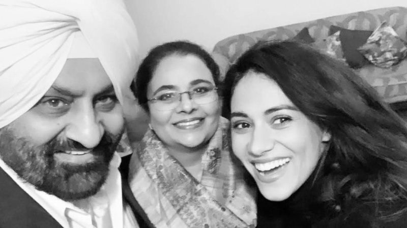 Gurleen with her father and mother