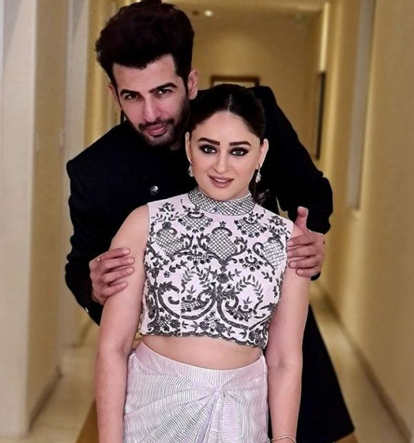 Jay Bhanushali with his wife