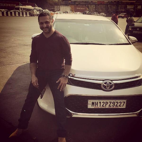 Kaizzad with his Toyota car