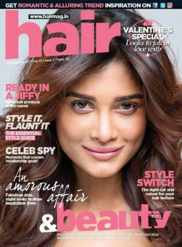 Sushrii on the cover of the Hair and Beauty Magazine