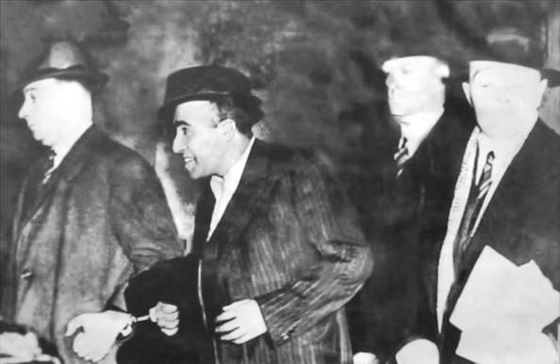 Udham Singh (second from the left) being taken after the assassination of Michael O'Dwyer