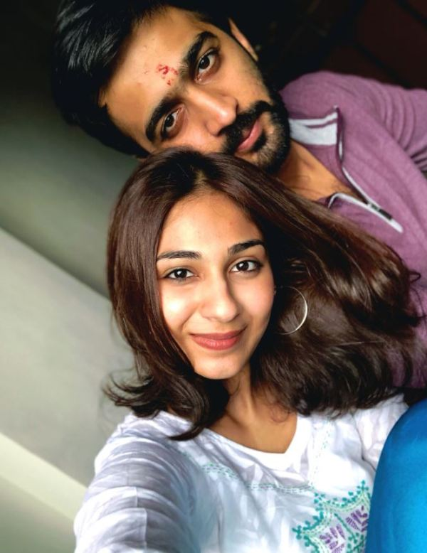 Vidhi Pandya with her brother